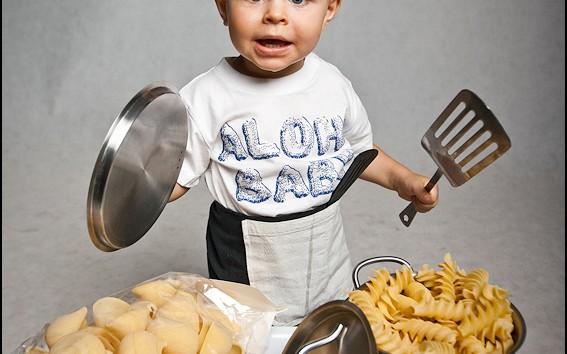 Mały kucharz- sesja rodzinna