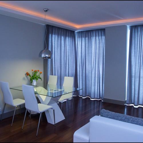 Fotografowanie wnętrz: nowoczesne mieszkanie pod wynajem