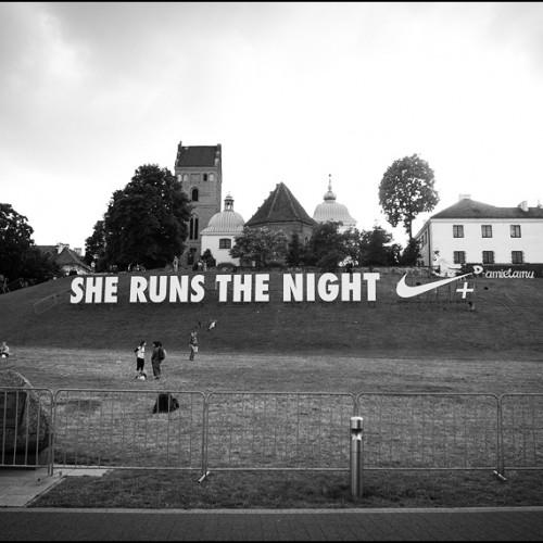Bieganie nocą po Warszawie