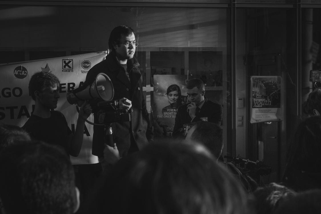 janusz kunowski organizator protestu